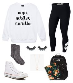 """Untitled #75"" by denisse-arellanoaguirre on Polyvore featuring NIKE, Converse, The North Face and Full Tilt"