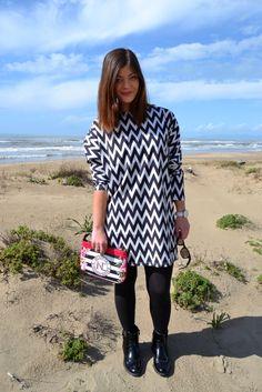 Black and white dress Shein, the Moog Paris watch, NicoleLee bags!