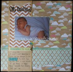 Everyday Eclectic {My Darling} Scrapbook Layout