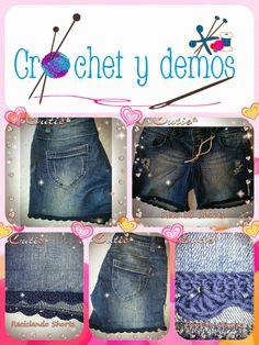 Crochet y demos: Reto N° 53 SHORTS ( Renovando shorts)