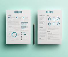 Love the balance of this creative resume concept by Ben Dexter, via Behance that using very subtle line thinkness changes and a solid color and graphic style  ... For more resume inspirations click here: www.pinterest.com/sheppardaaron/-design-resumes/ Creative Resume Design, Resume Style, Resume Design, Curriculum Vitae, CV, Resume Template, Resumes, Resume Format.