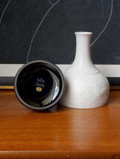 Bjorn Wiinblad porcelain bud vases   https://www.etsy.com/listing/194816018/bjorn-wiinblad-vase-2-white-black-matte?ref=shop_home_active_1