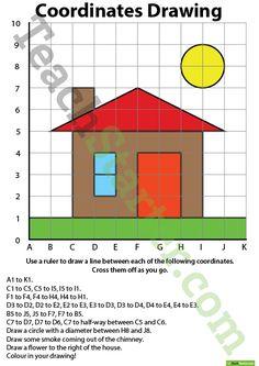 Coordinates Drawing – House Teaching Resource