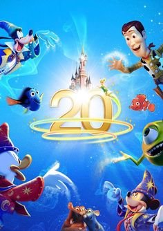 All Characters - Disneyland 20ans