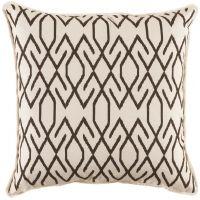 #03 Zoe Cocoa w/ White Eyelash Trim Pillow