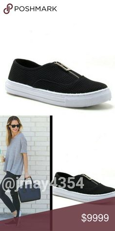COMING SOON Perforated slip on sneakers. Perfect compliment to any outfit! Wear them with a midi dress, denim and a tee, skirt, etc! The possibilities are endless! Black perforated with silver functional zipper. More details to come!   ☞SIZES AVAILABLE: 5.5, 6, 6.5, 7, 7.5, 8, 8.5, 9, 10 ☞MODELING SIZE: 🍃I.G: @JMAYORGA91   ☟LIKE TO BE NOTIFIED OR COMMENT BELOW☟ Shoes Sneakers