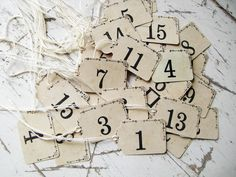 Vintage Style Price Tags FoR YouR Shabby Spring Boutique- Set of 15 NumBeRs, OF YOUR CHOICE. $4.50, via Etsy.