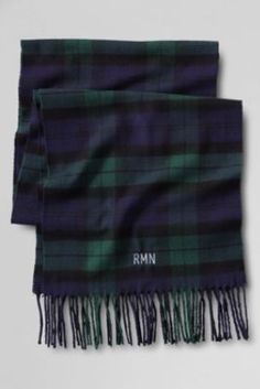 Try our CashTouch Plaid Scarf at Lands' End. Everything we sell is Guaranteed. Tartan Plaid, Plaid Scarf, Black Plaid, Preppy Style, My Style, Winter Wardrobe, Playing Dress Up, Autumn Winter Fashion, Dress To Impress