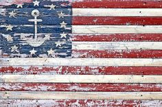 weathered flag