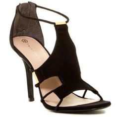 "NWOT Trina Turk Lucca Dress Sandal Trina Turk Lucca Dress Sandal with box (no lid)               Details: Sizing: True to size. - Open toe - Cord detail with hardware accent - Back zip closure - Covered stiletto heel - Approx. 4"" heel                                     Materials: Suede upper, leather sole Trina Turk Shoes Heels"