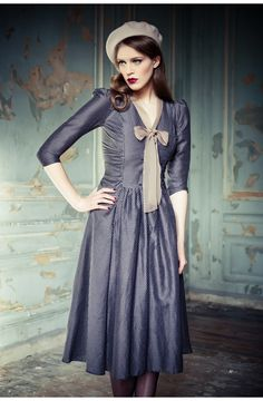 Baiser Dress Aviator Blue - Lena Hoschek Online Shop