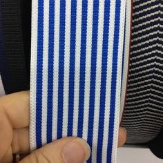 2 Blue and White Stripe Elastic / Nautical theme Jeans Fashion, Fraternity, Nautical Theme, Etsy Store, Hong Kong, Denim Jeans, Blue And White, Lost, Trending Outfits