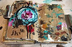 by Donna Downey    Reuse the background paper you create on in your journal...