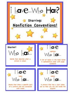 The Centered School Library: Nonfiction Card Game Library Center