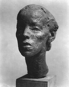 Isamu Noguchi (US 1904-1988), Martha Graham, bronze, 1929. Collection of the Honolulu Museum of Art (?).