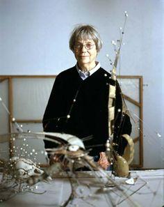 Lee Bontecou in her Pennsylvania studio, June 2003  Photo by Josh Titus, courtesy UCLA Hammer Museum, Los Angeles