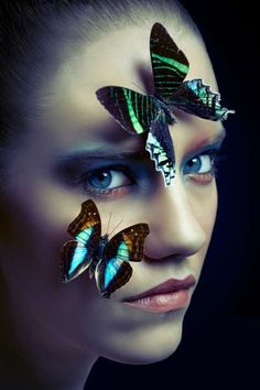 Ephemeral Clara Copley - The 'Ephemeral' Clara Copley editorial stars Storm Models face Lola who poses with an array of beautiful butterfly insects. Butterfly Face, Madame Butterfly, Butterfly Photos, Butterfly Effect, Butterfly Kisses, Butterfly Makeup, Portrait Photography, Fashion Photography, Photography Ideas