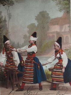 Midsommarlek Dalarna Rättvik 1899