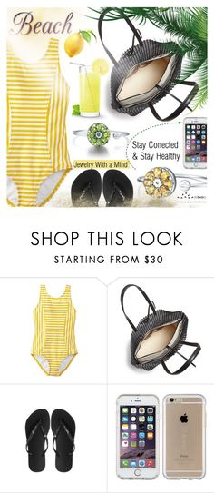 """Stay Conected"" by totwoo ❤ liked on Polyvore featuring Loeffler Randall, Havaianas and Speck"