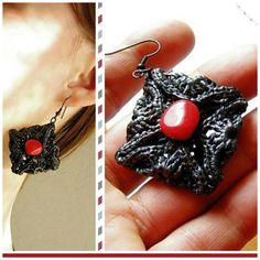 How to Make Earrings with Woven Plastic Bags - I enrHedando