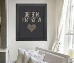 Really cool concept—personalized house warming gift—a poster with the longitude & latitude of the home❣