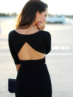 LBD with cut-out back