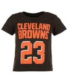 Outerstuff Joe Haden Cleveland Browns Mainliner Player T-Shirt, Toddler Boys' (2T-4T) - Brown 2T