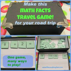 Math in a Box Travel Game :: Try this fun Math in a Box Travel Game to keep your kids entertained on your next car trip! :: So You Call Yourself a Homeschooler?