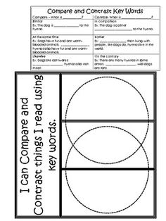 Compare and Contrast notes and foldable. Awesome download and print for my students still struggling with compare and contrast. Place in bell work notebook.