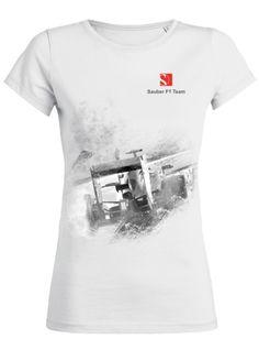 "Sauber F1 Team T-Shirt ""Race Car Graphic"" Team T Shirts, F1, Race Cars, Racing, Mens Tops, How To Wear, Fashion, Drag Race Cars, Running"