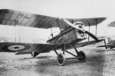 Royal Aircraft Factory S.E.5 single-seat fighter plane. Bickendorf Aerodrome, Cologne.