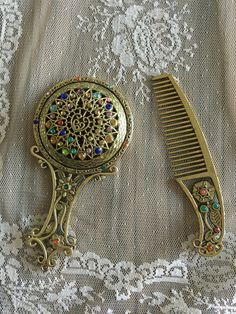 A personal favourite from my Etsy shop https://www.etsy.com/listing/242767681/vintage-mirror-comb-set