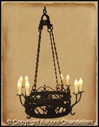 Handcrafted chandeliers & home furnishings. Iron Chandeliers, Spanish Style, Home Furnishings, Venice, Loft, Ceiling Lights, Home Decor, Decoration Home, Room Decor