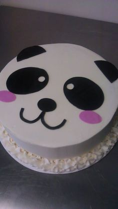 Panda cake for a girl's birthday