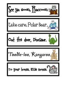 Goodbye Rhymes are an interactive visual to help kids recognize the rhythm patterns and rhyming words. Post these next to your door and recite them before ...  sc 1 st  Pinterest & Goodbye Rhymes are an interactive visual to help kids recognize the ...