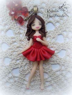 Polymer clay fimo ooak chibi doll inspired Moulin Rouge, by Katalin Handmade (2015) #polymerclay #fimo #claychibi #ooak #kawaii #moulinrouge #polymerclaydoll #chibicharm #kawaiicharm #claycharm