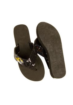 Missouri Tigers (MU Tigers) Flip Flops- Womens Logo Sequin Sandals http://www.rallyhouse.com/shop/missouri-tigers-missouri-tigers-flip-flops-womens-logo-sequin-sandals-171547 $19.95