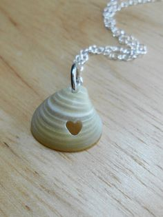 Sea Shell Necklace - Seashell Jewelry - Eco Love Necklace - LL COOL SHELL