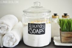 Powder laundry soap for an entire year