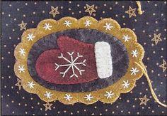 Primitive Folk Art Wool Applique Pattern  WOOL by PrimFolkArtShop