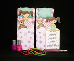 Printable slumber party invitation I created using a digital kit by Kay Miller - I have permission to share the printable :)
