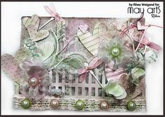 Mixed Media Canvas: Ribbon Flower Pinterest Tutorial
