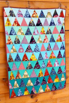 A Little Triangle Baby Quilt