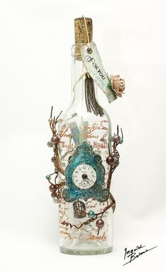Ingvild Bolme: Altered bottle of wine with a treasure inside...