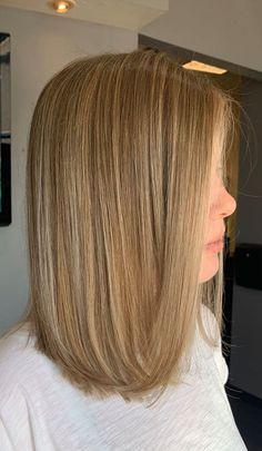 Honey Blonde Hair, Balayage Hair Blonde, Brown Balayage, Medium Hair Styles, Curly Hair Styles, Hair Medium, Brown Hair With Highlights, Natural Highlights, Gorgeous Hair Color
