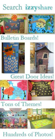 Classroom layout, bulletin boards, and doors