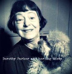 Dorothy Parker and her dog Misty.