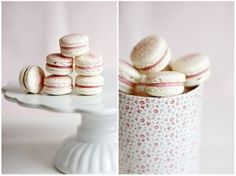 Pink & White Macarons... So Cute!