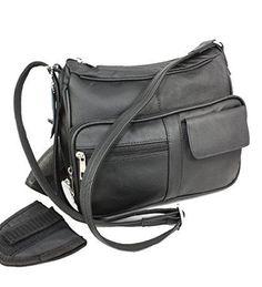 Concealed Carry Gun Bag Genuine Leather Handbag Purse  #RomaLeathers #MessengerCrossBody