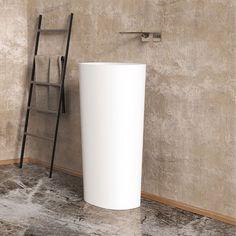 Solidcliff Pedestal Basin www.ideavit.com #solidcliff#markuskurkowski#bathroom #bath #architecture #sanitary #minimal #minimalism #bathtub #tub #luxurybath #whitematt #solidsurface #minimaldesign #simplicity #bathroomdecor #simplebath #minimalbath #washbasin #minimalbathroom #archiproject #designer #homedecor #interiordesign #interiors #matte #ideavit #hoteldesign #boutiquehotels#luxuryhome